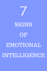 signs of emotional intelligence
